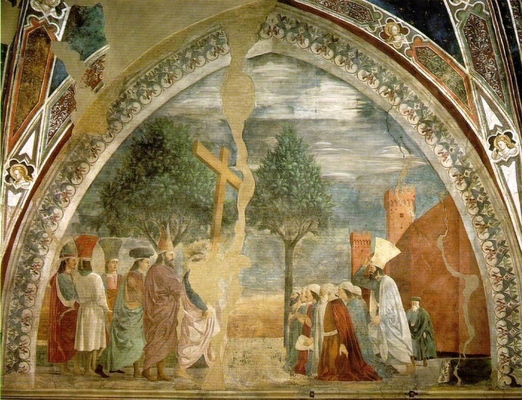Exaltation of the Cross by Piero della Francesco