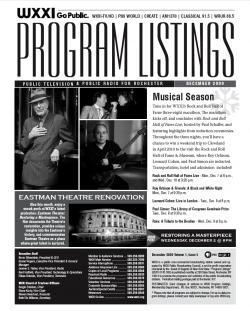 Program Listings - December 2009