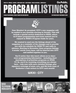 Program Listings - October 2020