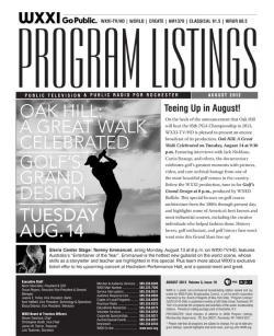 Program Listings - August 2012