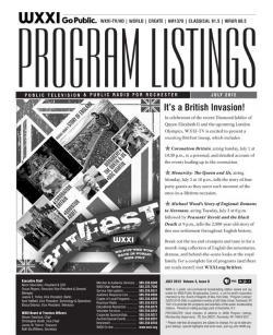 Program Listings - July 2012