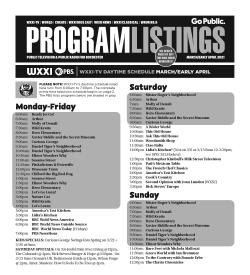 Program Listings - March 2021