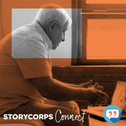 Older Gentleman Interviewing with StoryCorps Connect