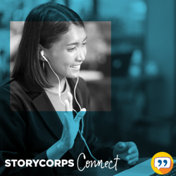 Young woman interviewing with StoryCorpsConnect