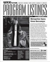 Program Listings - August 2010