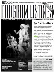 Program Listings - August 2009