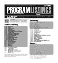 Program Listings - February 2021