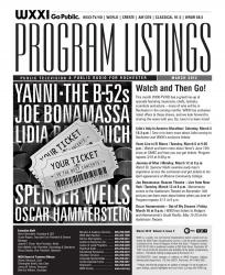 Program Listings - March 2012