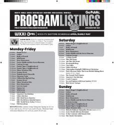 Program Listings - April 2021
