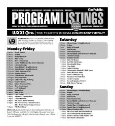 Program Listings - January 2021