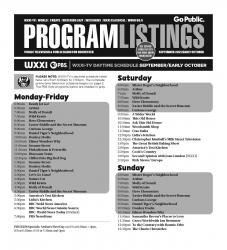 Program Listings - September 2021