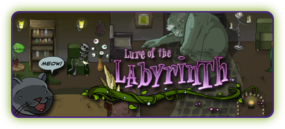 Lure of the Labyrinth game button